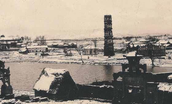 1933年冬天的大安寺塔