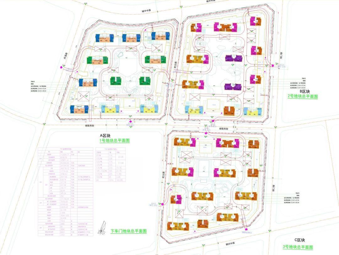 义乌市下车门新村总平面图