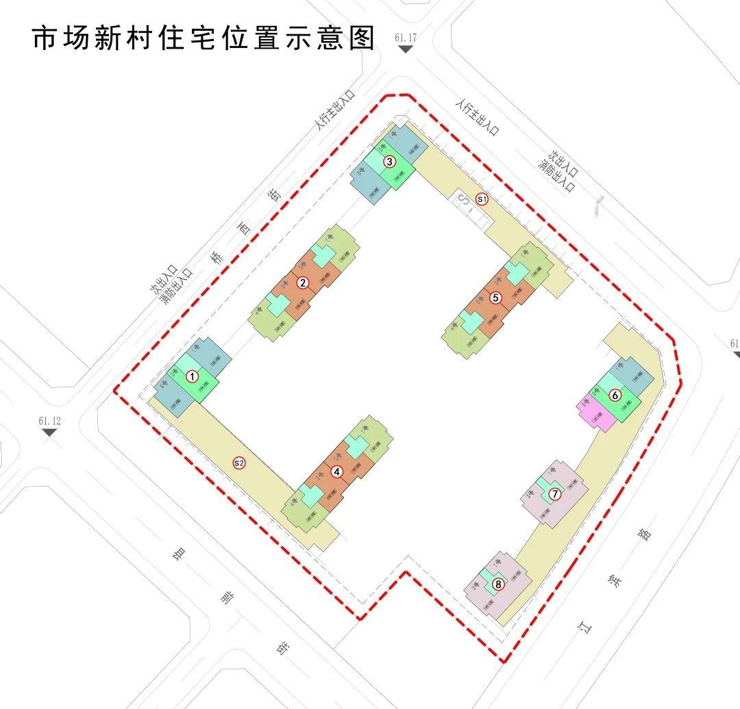 义乌望江府(市场新村)小区平面图