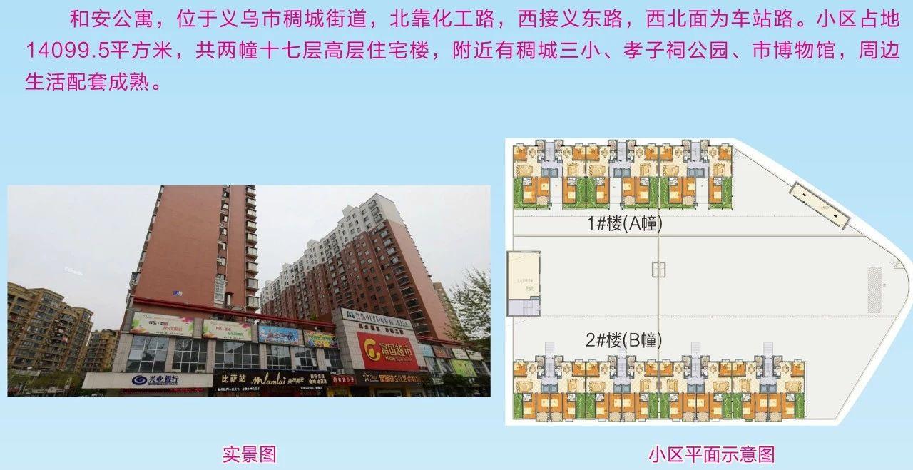 义乌和安公寓 小区平面图
