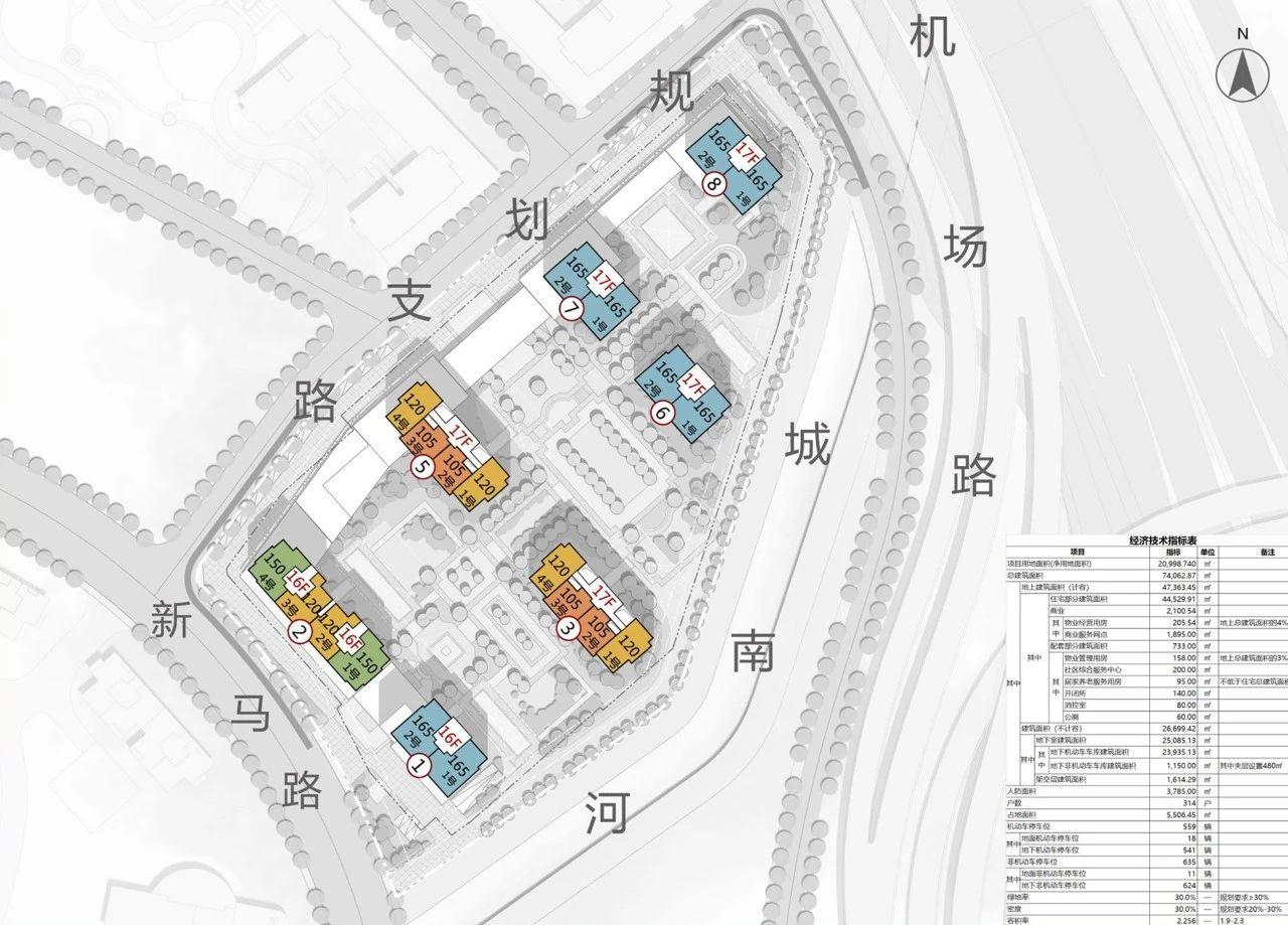 义乌楼店府小区平面图