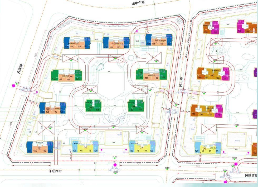 义乌市车门新村A区块平面图