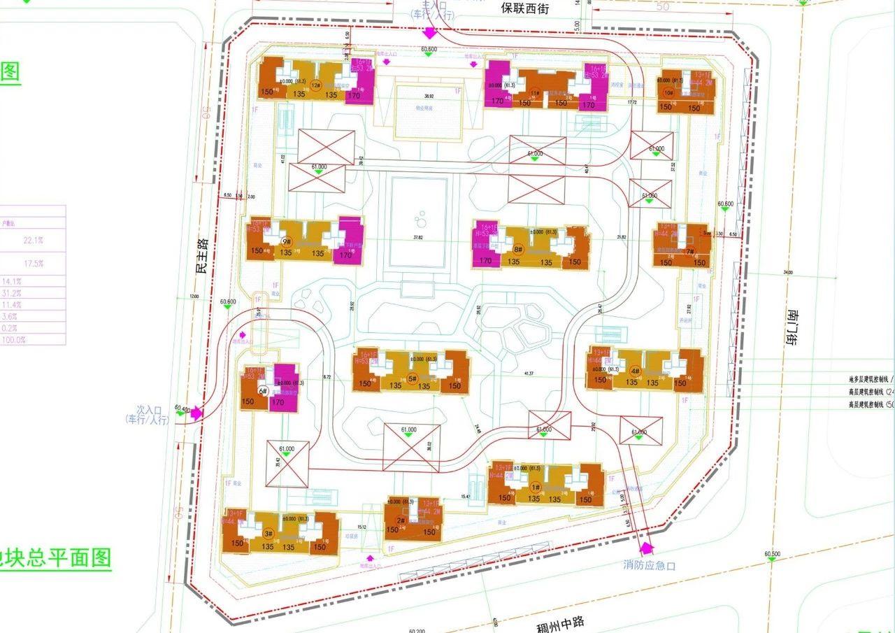 义乌市下车门新村C区块平面图
