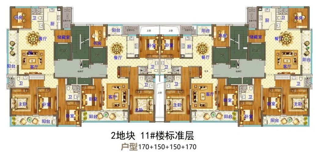 义乌市下车门新村B区块  11#楼标准层 户型图